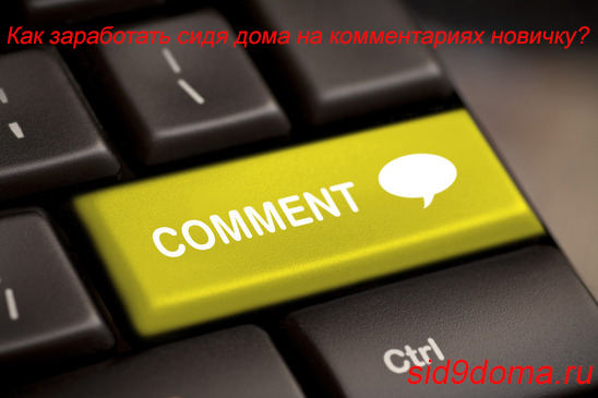 Как заработать сидя дома на комментариях новичку?